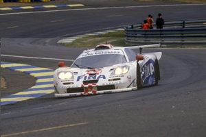 Steve at the 1997 Le Mans 24h in a McLaren F1 GTR BMW