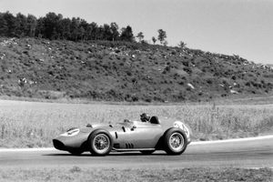 Tony in the Ferrari Dino 246 at the 1959 French GP