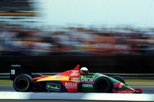 Teo at the 1987 British Grand Prix in the Benetton B187