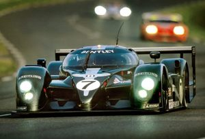 Tom winning in the Bentley at Le Mans in 2003