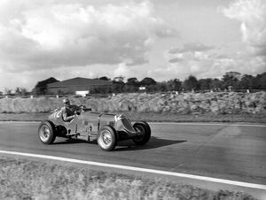Tony in the Maserati at Goodwood in 1952