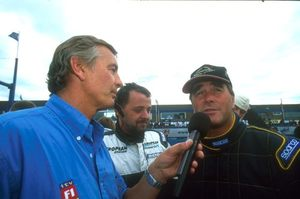 Tony interviewing Nigel Mansell, Donnington 2001