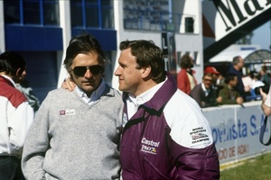 Tony with Tom Walkinshaw in March 1988