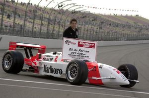 Gil at the California Speedway setting the speed record at the 2000 CART meeting