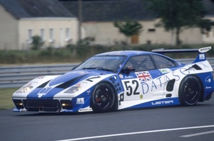 Geoff in the Lister Storm GTS Jaguar at Le Mans 1995