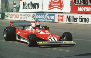Niki at the 1977 US West GP at Long Beach in the Ferrari 321T