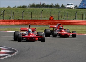 Robs at Silverstone in 2009 competing agaainst Mike Wrigley.