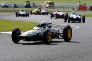 Robs in the Lotus in July 2008 at Silverstone in the HGPCAPre66 race.