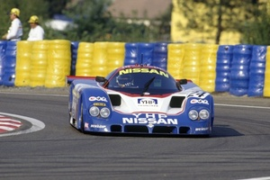 Martin in Nissan 89C at Le Mans in 1989